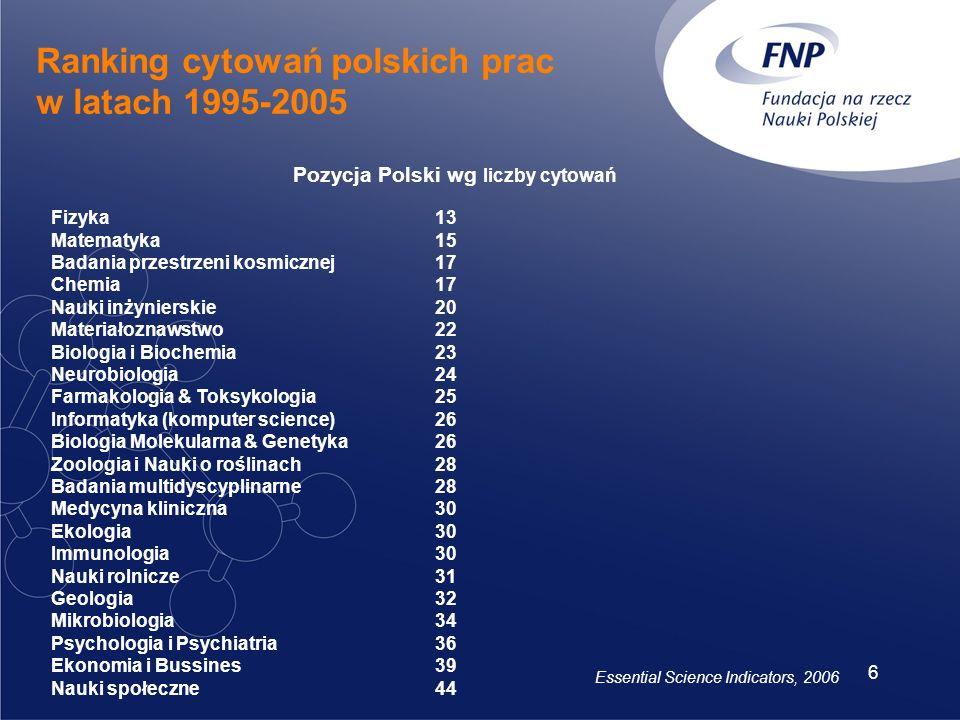 7 przedsiębiorstwabudżet inne środki krajowe zagranica 30.8 54.7 56.1 64.8 37.137.1 3434 22 1.1 2.22.22.22.2 2.22.22.22.2 2.42.42.42.4 2.42.42.42.4 7.2 7.77.77.77.7 7.77.77.77.7 0%20%40%60%80%100% Polska Słowenia EU -15 Niedoskonałość instrumentów wspomagających współpracę nauki z przemysłem powoduje, że wdrożenia i nauki stosowane są finansowane przez budżet.
