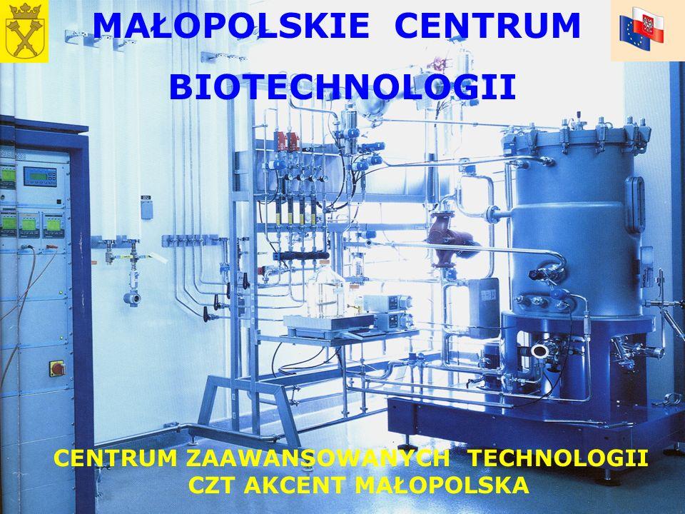 MAŁOPOLSKIE CENTRUM BIOTECHNOLOGII CENTRUM ZAAWANSOWANYCH TECHNOLOGII CZT AKCENT MAŁOPOLSKA