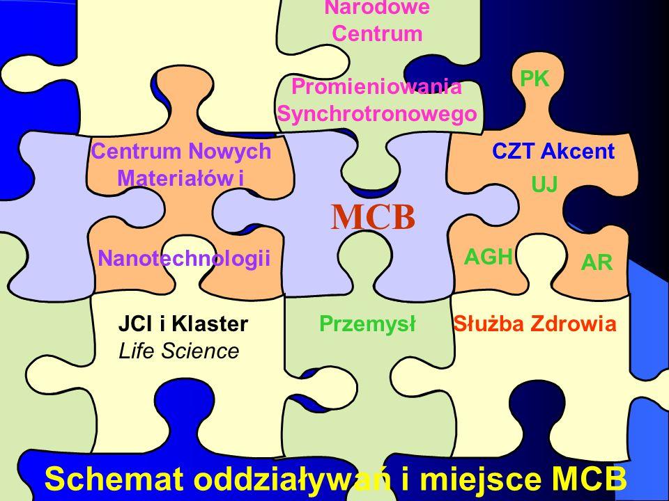Służba ZdrowiaPrzemysł CZT Akcent MCB Narodowe Centrum Promieniowania Synchrotronowego UJ AGH AR PK Centrum Nowych Materiałów i Nanotechnologii JCI i
