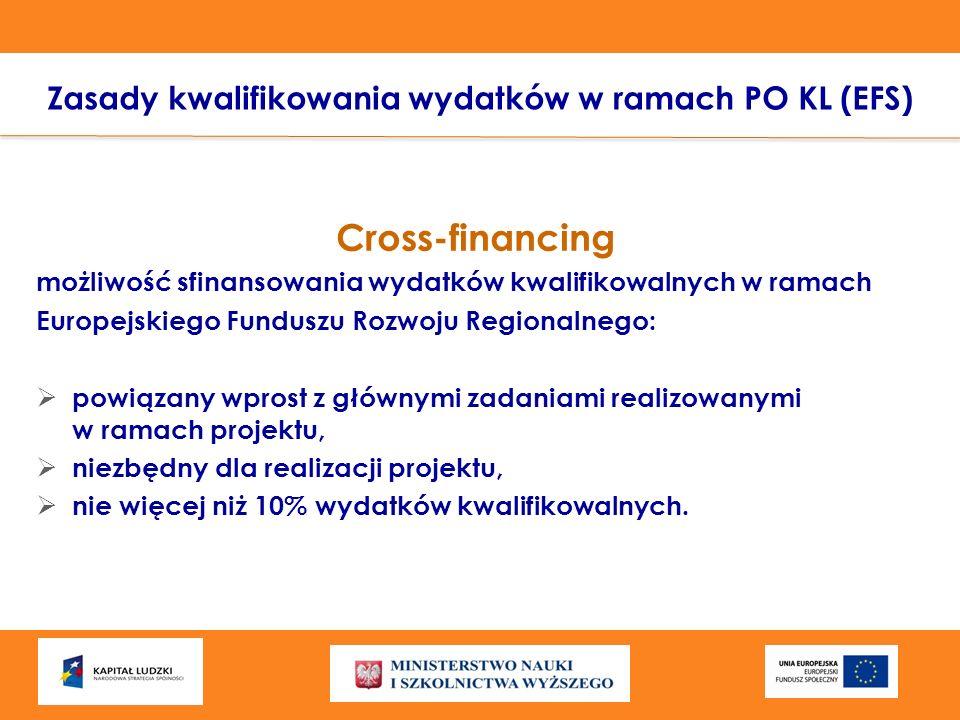 Cross-financing możliwość sfinansowania wydatków kwalifikowalnych w ramach Europejskiego Funduszu Rozwoju Regionalnego: powiązany wprost z głównymi za