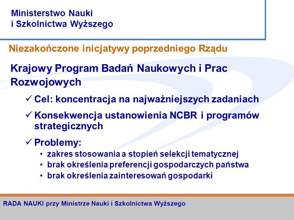 Ministerstwo Nauki i Szkolnictwa Wyższego RADA NAUKI przy Ministrze Nauki i Szkolnictwa Wyższego Inicjatywa zmian systemowych Powinności Ministra Samorządność akademicka