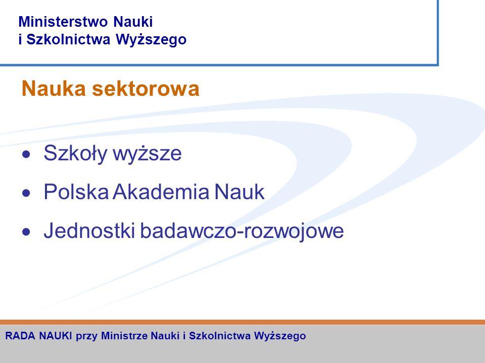 Ministerstwo Nauki i Szkolnictwa Wyższego RADA NAUKI przy Ministrze Nauki i Szkolnictwa Wyższego Propozycja głównych celów strategicznych zwiększenie wkładu nauki polskiej w naukę światową pełniejsze wykorzystanie potencjału nauki dla edukacji narodowej i podniesienia poziomu cywilizacyjnego kraju stymulowanie wzrostu innowacyjności polskiej gospodarki ściślejsze zespolenie z Europejskim Obszarem Badawczym