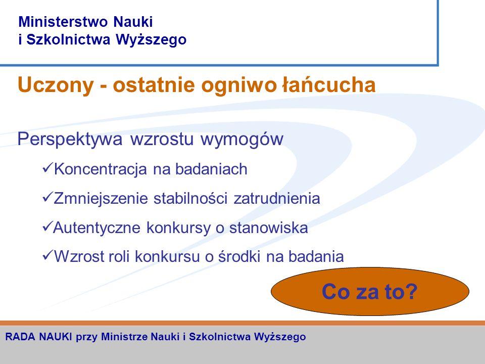 Ministerstwo Nauki i Szkolnictwa Wyższego RADA NAUKI przy Ministrze Nauki i Szkolnictwa Wyższego Nauka sektorowa Szkoły wyższe Polska Akademia Nauk Jednostki badawczo-rozwojowe