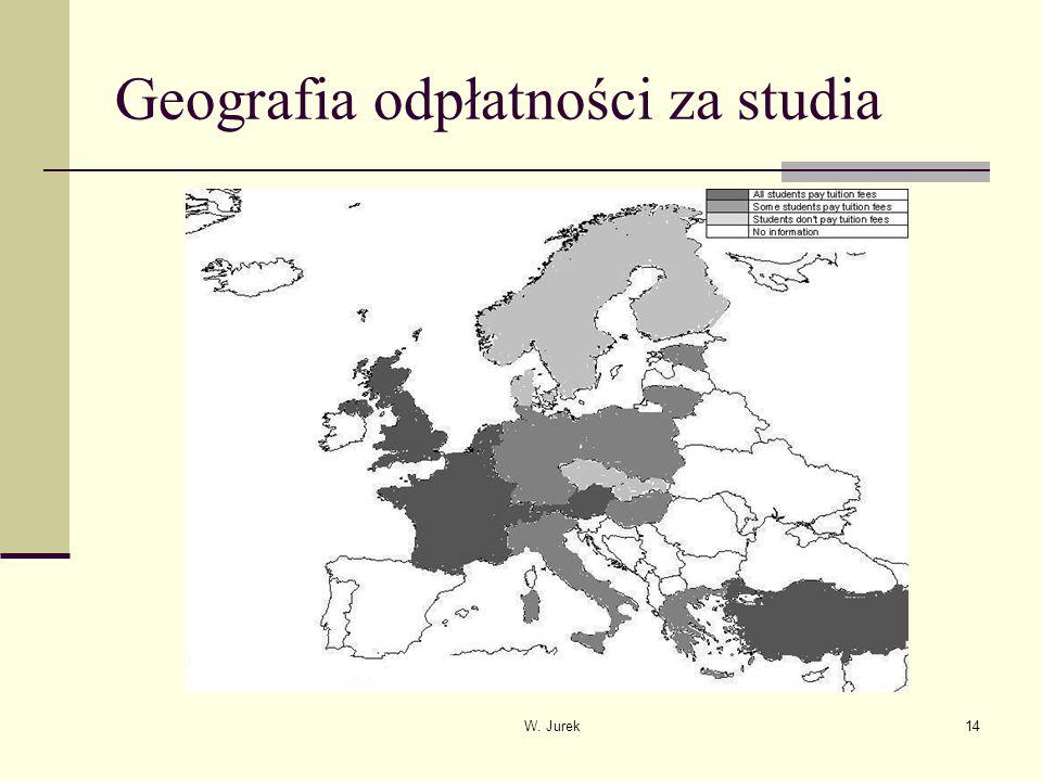 W. Jurek14 Geografia odpłatności za studia