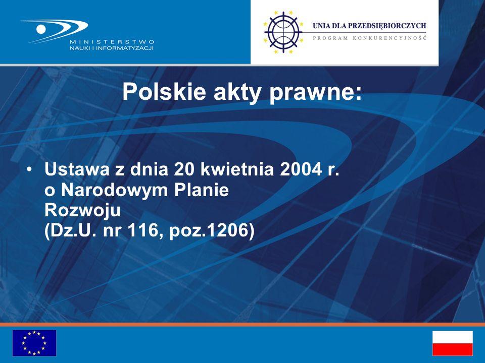 Polskie akty prawne: Ustawa z dnia 20 kwietnia 2004 r.