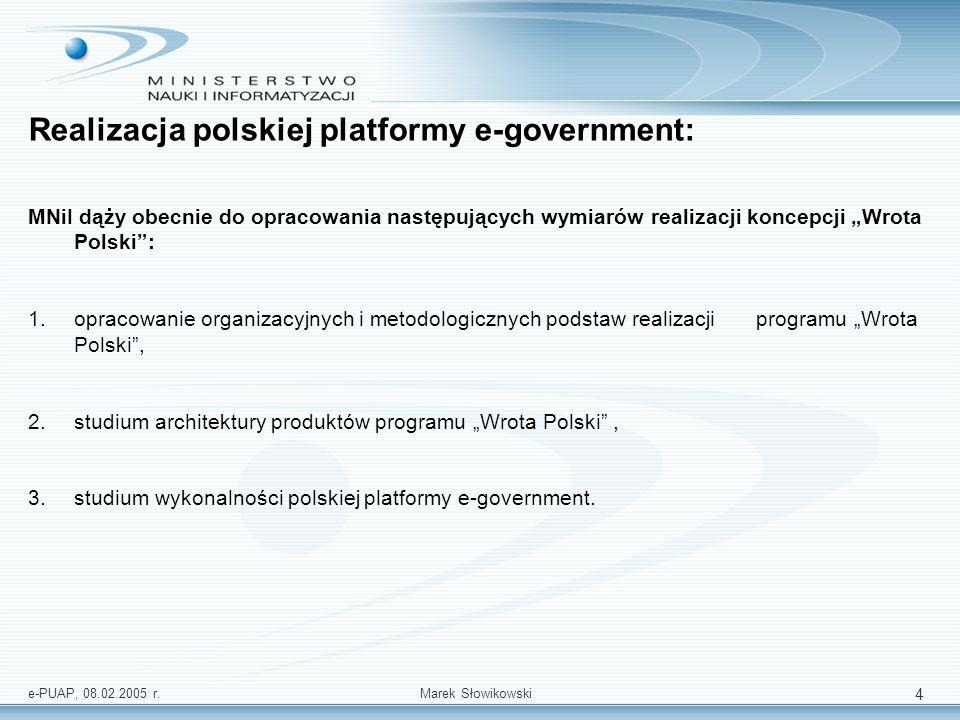 e-PUAP, 08.02.2005 r.Marek Słowikowski 5