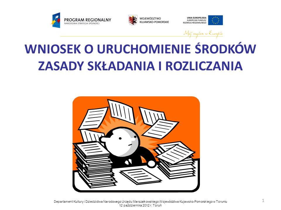 2 Wzór wniosku o uruchomienie środków stanowi załącznik nr 3 Umowy Partnerskiej zawartej 7 maja 2012 r.