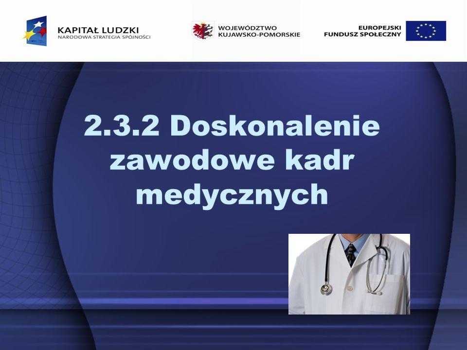 2.3.2 Doskonalenie zawodowe kadr medycznych