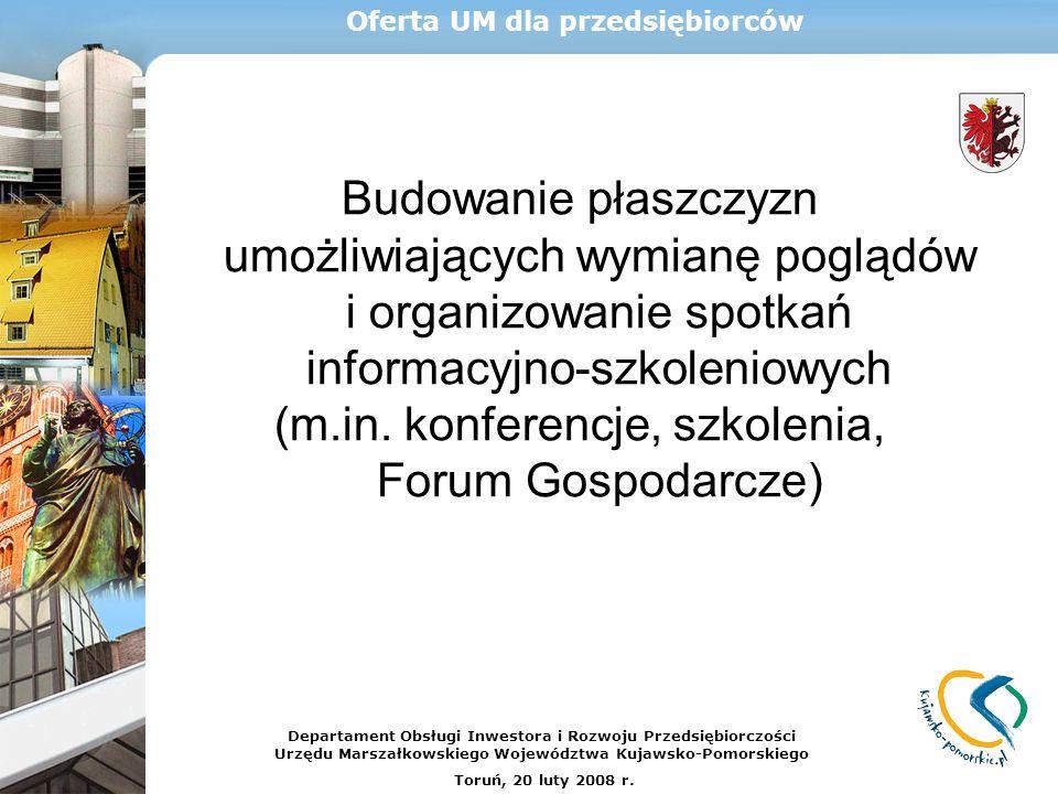 Budowanie płaszczyzn umożliwiających wymianę poglądów i organizowanie spotkań informacyjno-szkoleniowych (m.in. konferencje, szkolenia, Forum Gospodar