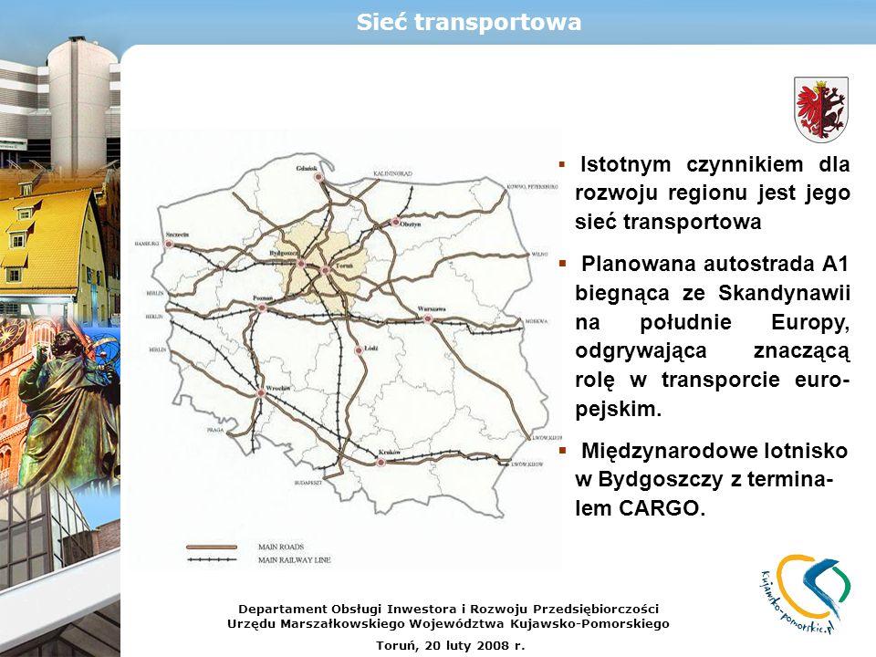 Istotnym czynnikiem dla rozwoju regionu jest jego sieć transportowa Planowana autostrada A1 biegnąca ze Skandynawii na południe Europy, odgrywająca zn