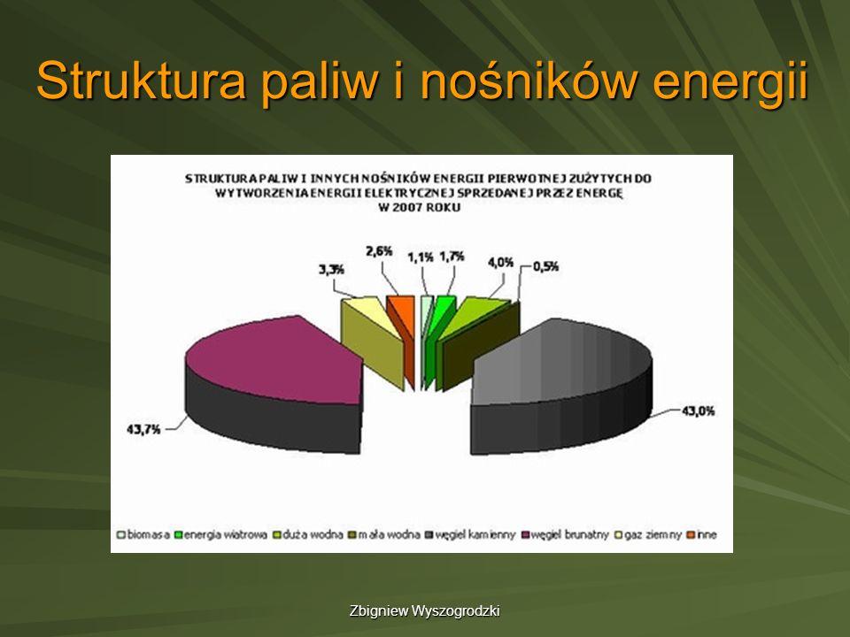 Zbigniew Wyszogrodzki Struktura paliw i nośników energii