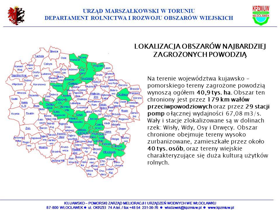KUJAWSKO – POMORSKI ZARZĄD MELIORACJI I URZĄDZEŃ WODNYCH WE WŁOCŁAWKU 87-800 WŁOCŁAWEK ul. OKRZEI 74 A tel. / fax +48 54 231-36-76 wloclawek@kpzmiuw.p