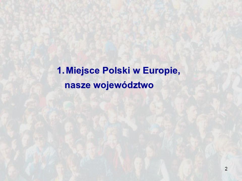 2 1.Miejsce Polski w Europie, nasze województwo nasze województwo