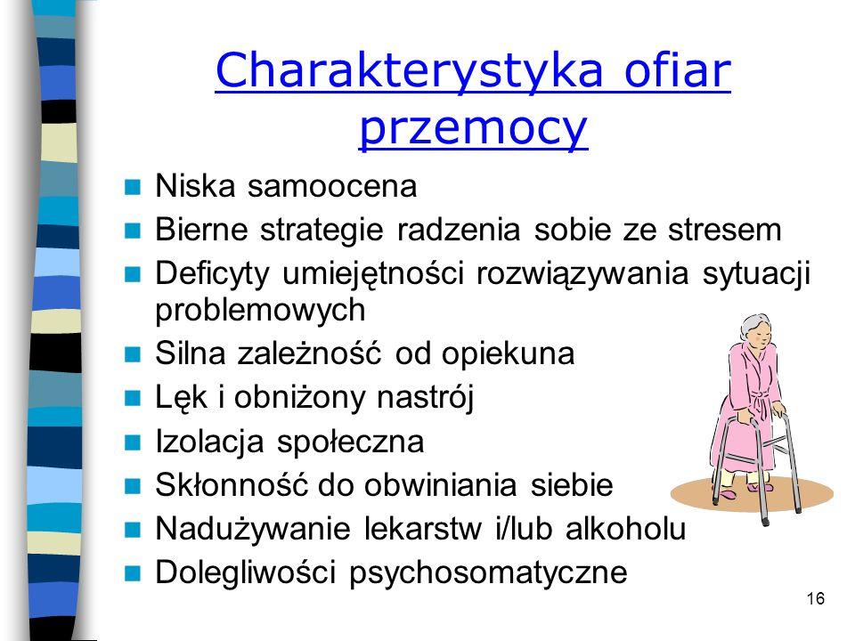 15 Przemoc wobec osób starszych w Warszawie W Warszawie od 6 do 17 tysięcy osób powyżej 60 roku życia w ciągu ostatniego roku doświadczyło przemocy ze