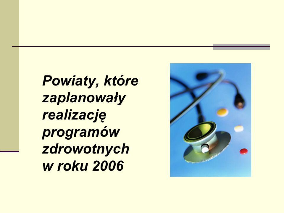 Problemy zdrowotne powiatu golubsko - dobrzyńskiego ustalone przez Departament Zdrowia Wysoki współczynnik zachorowalności na nowotwory -1351/100tys.(749/100tys.) Wysoki współczynnik zachorowalności na choroby układu krążenia – 19691/100tys.