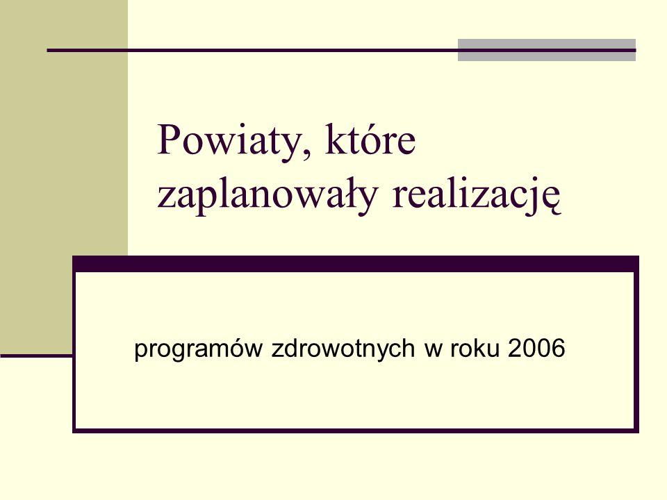 Plan realizacji programów zdrowotnych Nazwa programu Miejsce realizacji Populacja objęta programem Przedmiot programu Koszt programu Badania mammograficzne Gmina Janowiec Wlk.