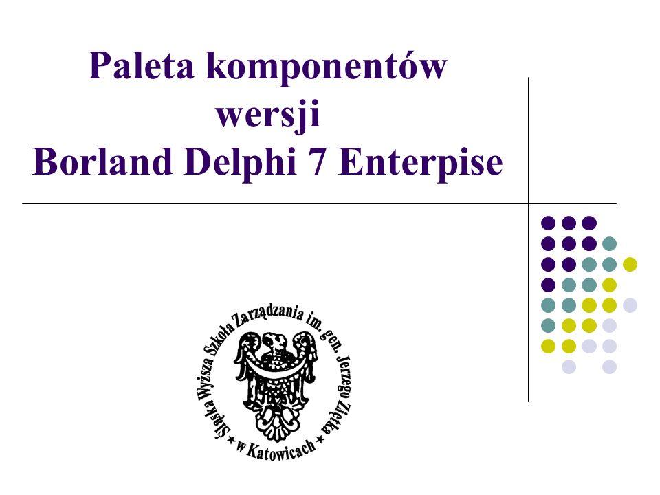 Paleta komponentów wersji Borland Delphi 7 Enterpise