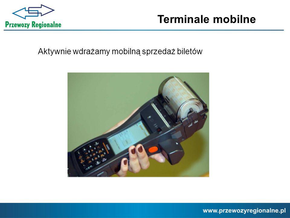 Terminale mobilne Aktywnie wdrażamy mobilną sprzedaż biletów