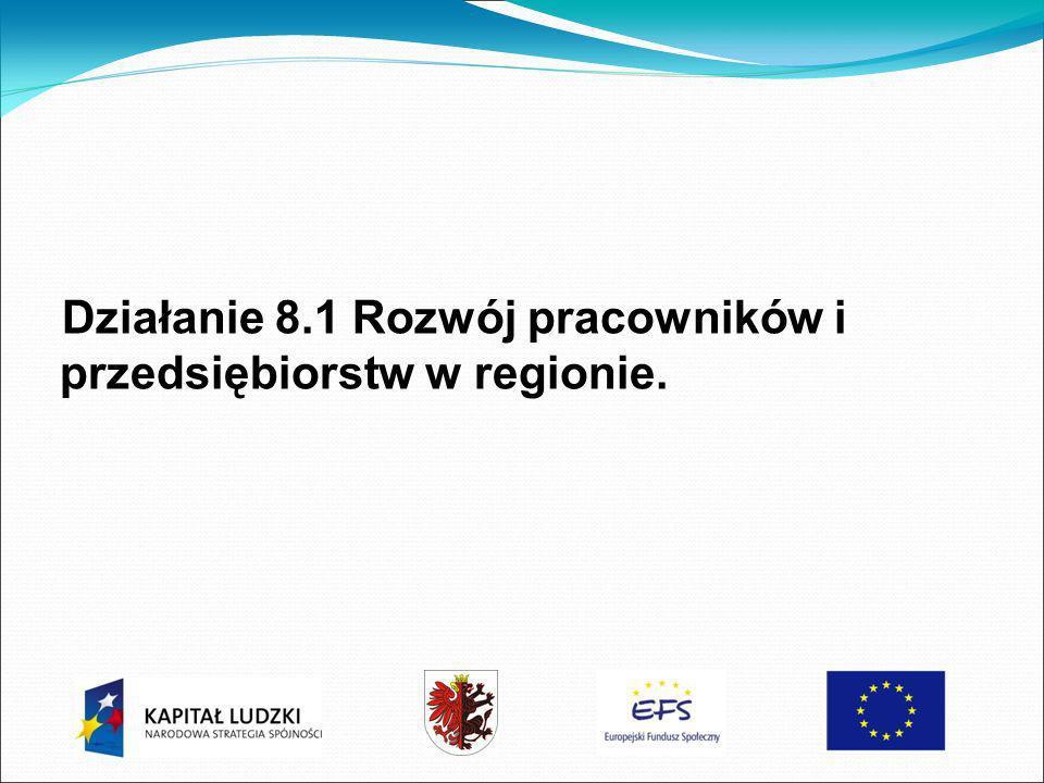 Działanie 8.1 Rozwój pracowników i przedsiębiorstw w regionie.