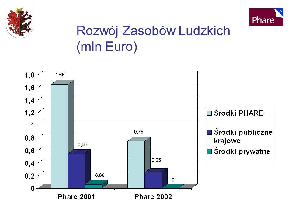 Rozwój Zasobów Ludzkich (mln Euro)