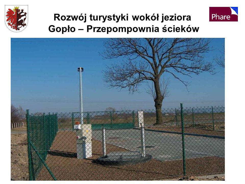Rozwój turystyki wokół jeziora Gopło – Przepompownia ścieków