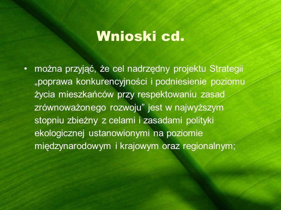 Wnioski cd.