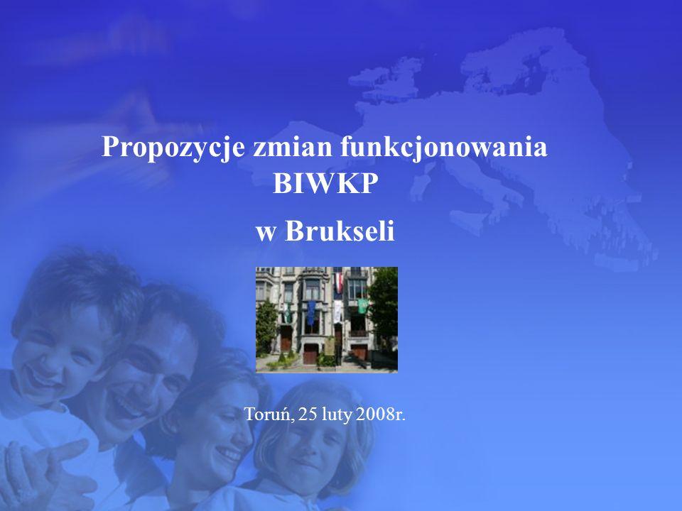Propozycje zmian funkcjonowania BIWKP w Brukseli Toruń, 25 luty 2008r.
