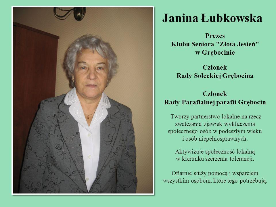 Janina Łubkowska Prezes Klubu Seniora