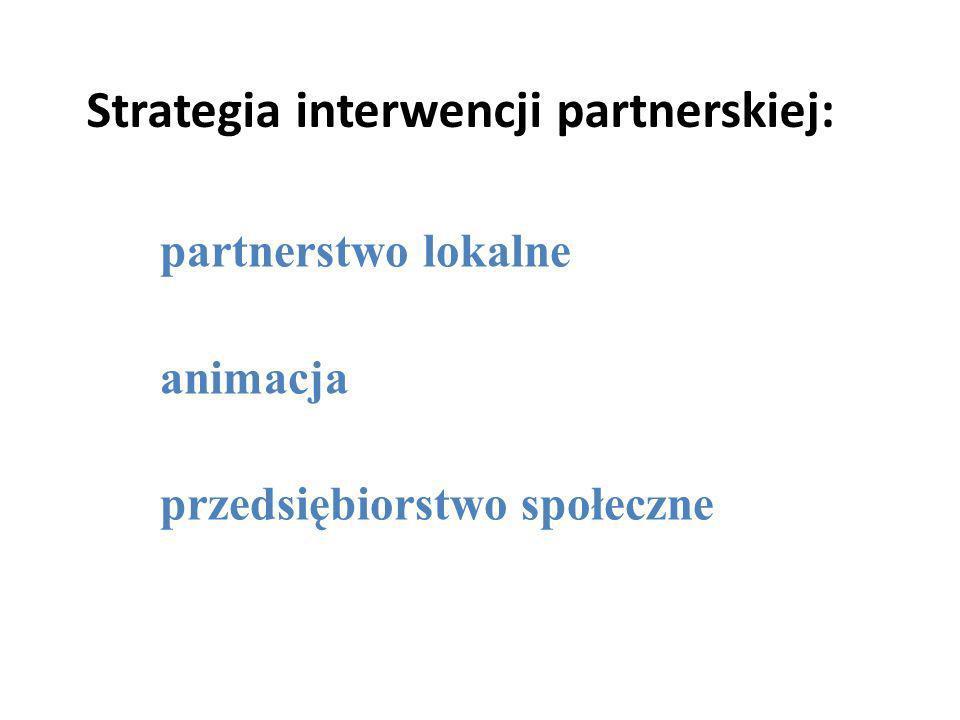 Strategia interwencji partnerskiej: partnerstwo lokalne animacja przedsiębiorstwo społeczne