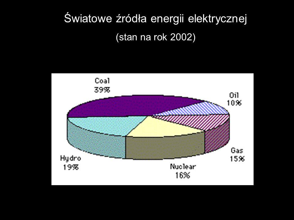 Światowe źródła energii elektrycznej (stan na rok 2002)