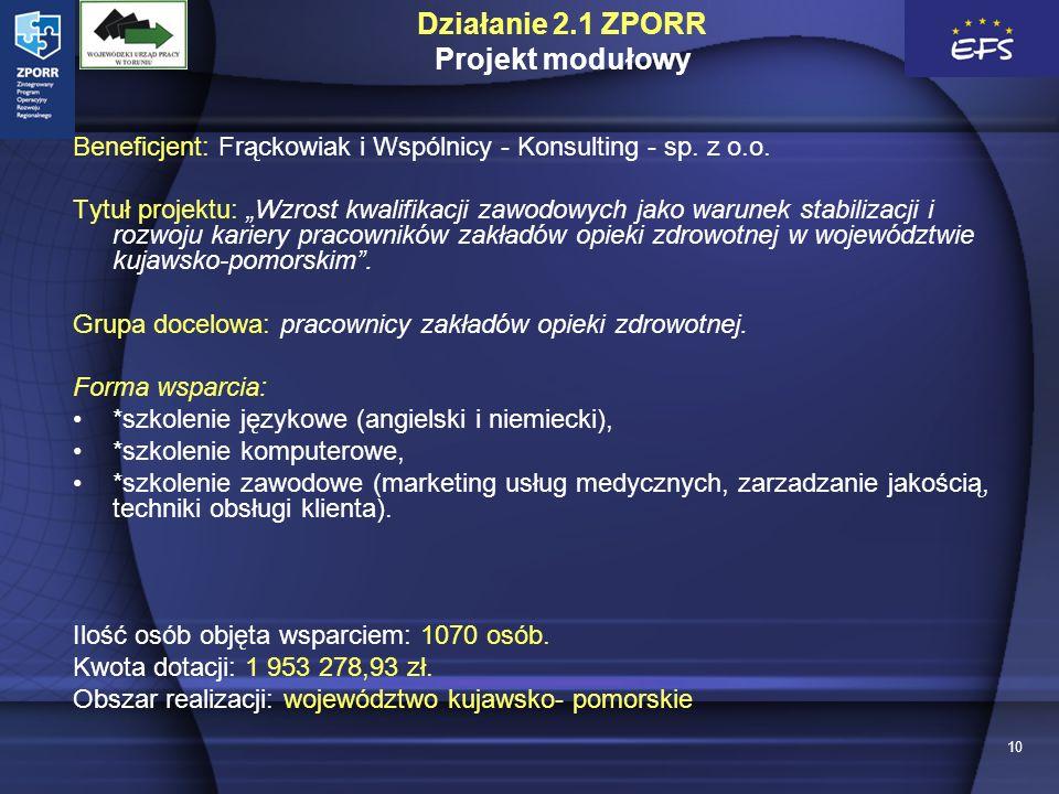 10 Beneficjent: Frąckowiak i Wspólnicy - Konsulting - sp.