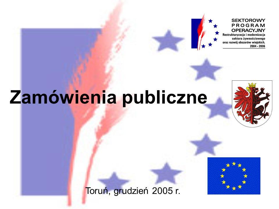 Zamówienia publiczne Toruń, grudzień 2005 r.