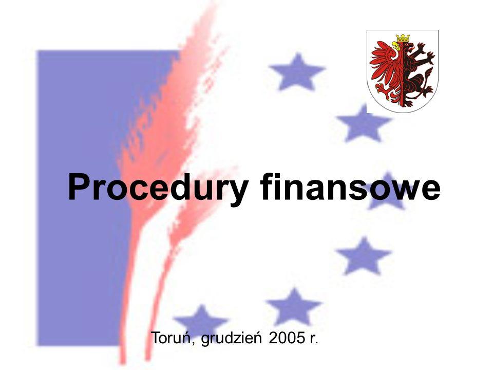Procedury finansowe Toruń, grudzień 2005 r.