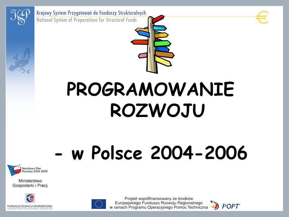 PROGRAMOWANIE ROZWOJU - w Polsce 2004-2006