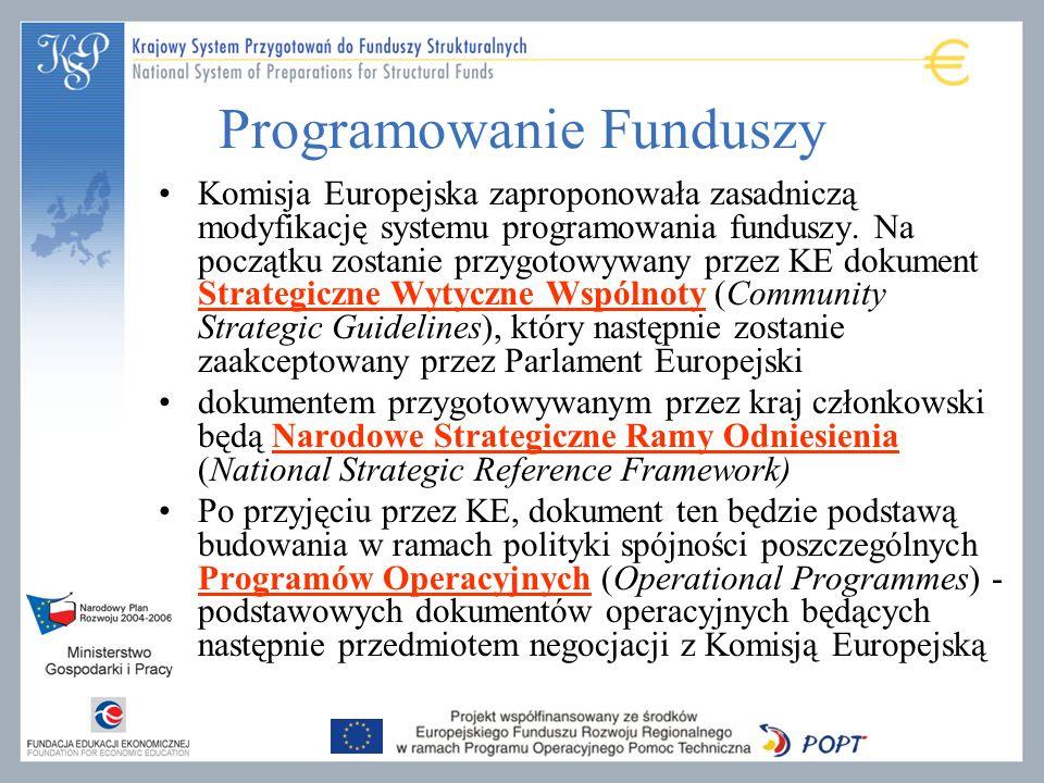Programowanie Funduszy Komisja Europejska zaproponowała zasadniczą modyfikację systemu programowania funduszy. Na początku zostanie przygotowywany prz