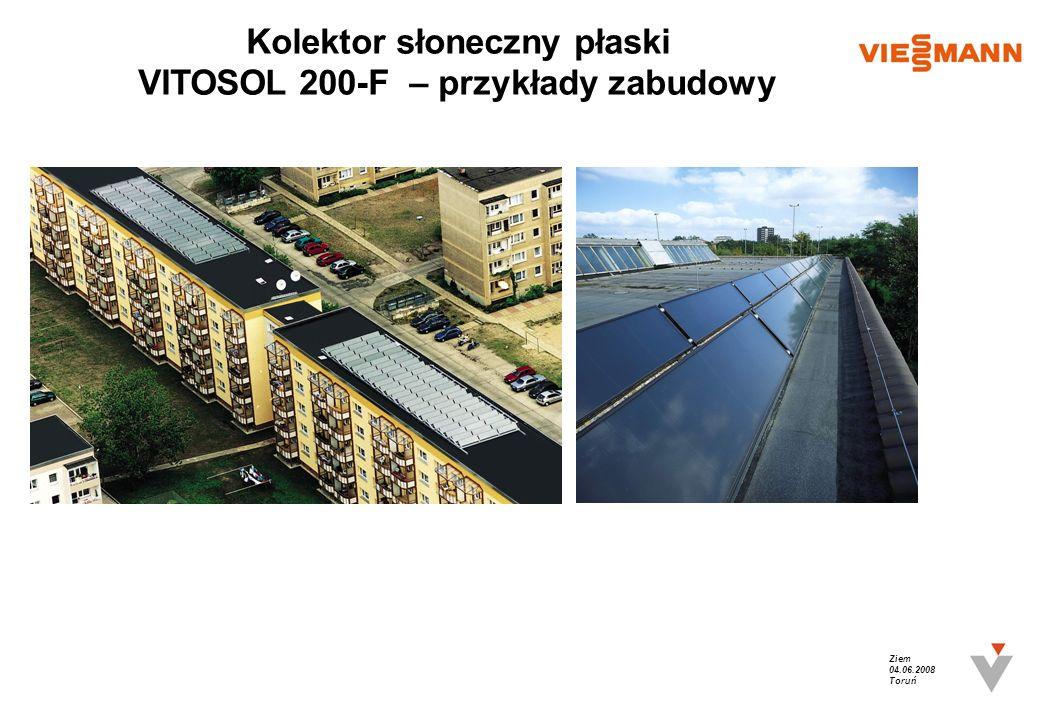 Ziem 04.06.2008 Toruń Kolektor słoneczny płaski VITOSOL 200-F – przykłady zabudowy