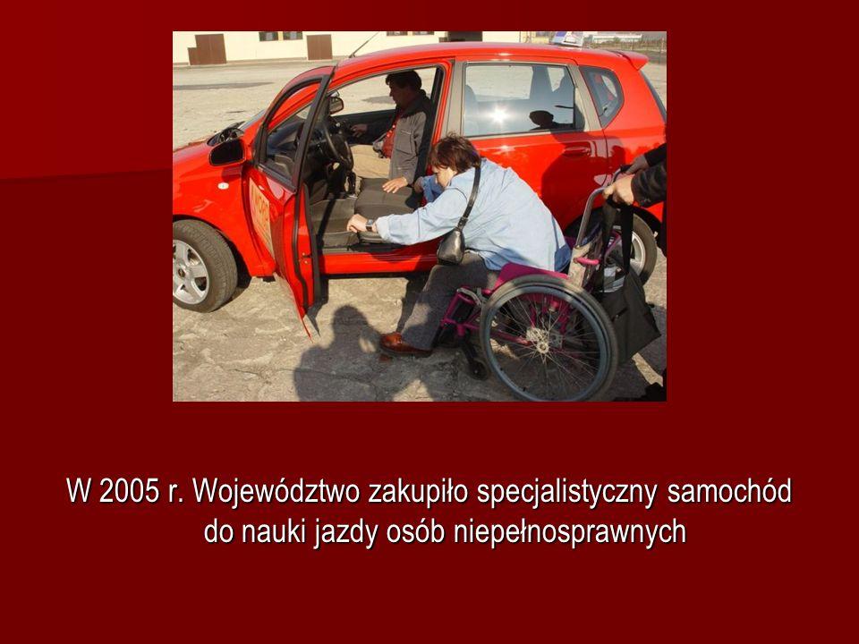W 2005 r. Województwo zakupiło specjalistyczny samochód do nauki jazdy osób niepełnosprawnych