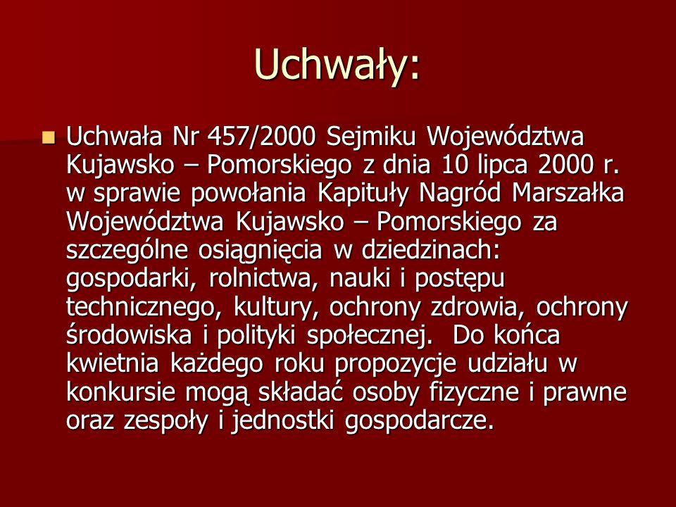 Uchwały: Uchwała Nr 457/2000 Sejmiku Województwa Kujawsko – Pomorskiego z dnia 10 lipca 2000 r.