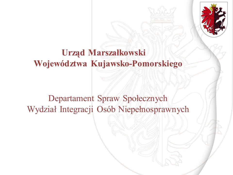 Dziękuję za uwagę kontakt: (0-56) 62 18 577, (0-56) 62 18 345, (056) 62 18 268 niepelnosprawni@kujawsko-pomorskie.pl www.kujawsko-pomorskie.pl niepelnosprawni@kujawsko-pomorskie.pl www.kujawsko-pomorskie.pl