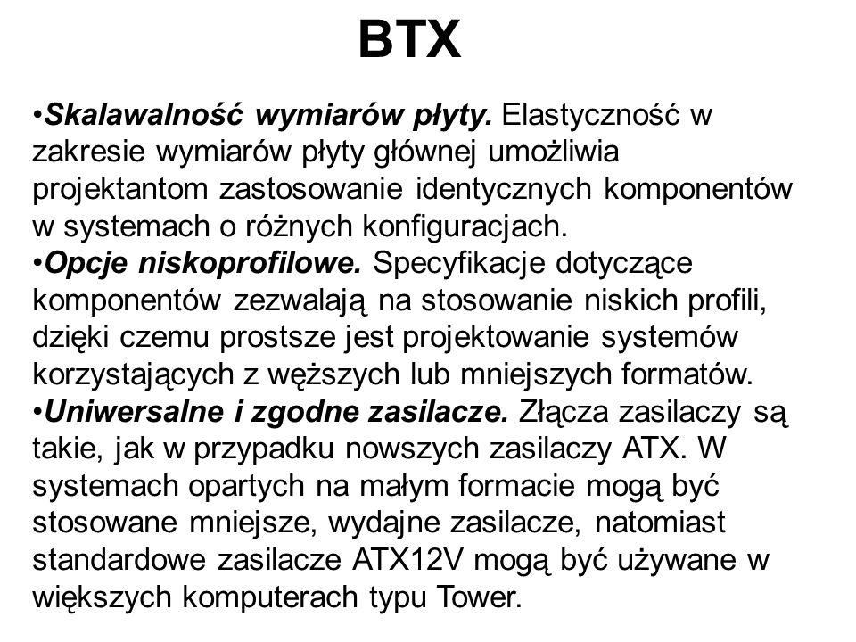 BTX Skalawalność wymiarów płyty. Elastyczność w zakresie wymiarów płyty głównej umożliwia projektantom zastosowanie identycznych komponentów w systema