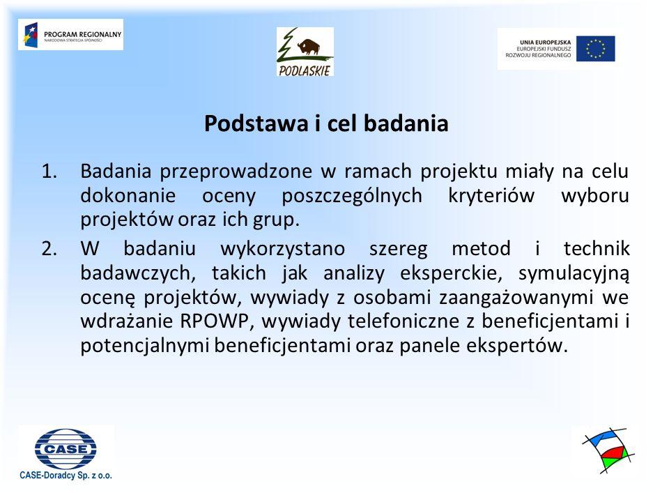 Połączenie elementów zgodności projektu z Uszczegółowieniem RPOWP na lata 2007-2013, Linią demarkacyjną oraz Dokumentacją konkursową w jednolite zespoły kryteriów.