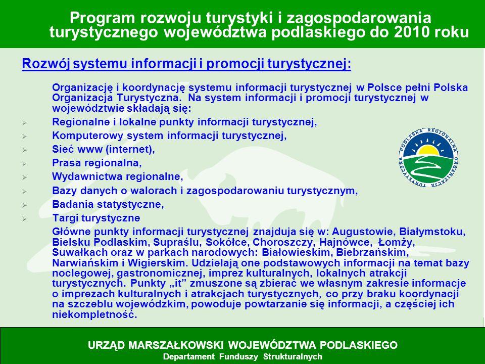 15 Rozwój systemu informacji i promocji turystycznej: Organizację i koordynację systemu informacji turystycznej w Polsce pełni Polska Organizacja Tury