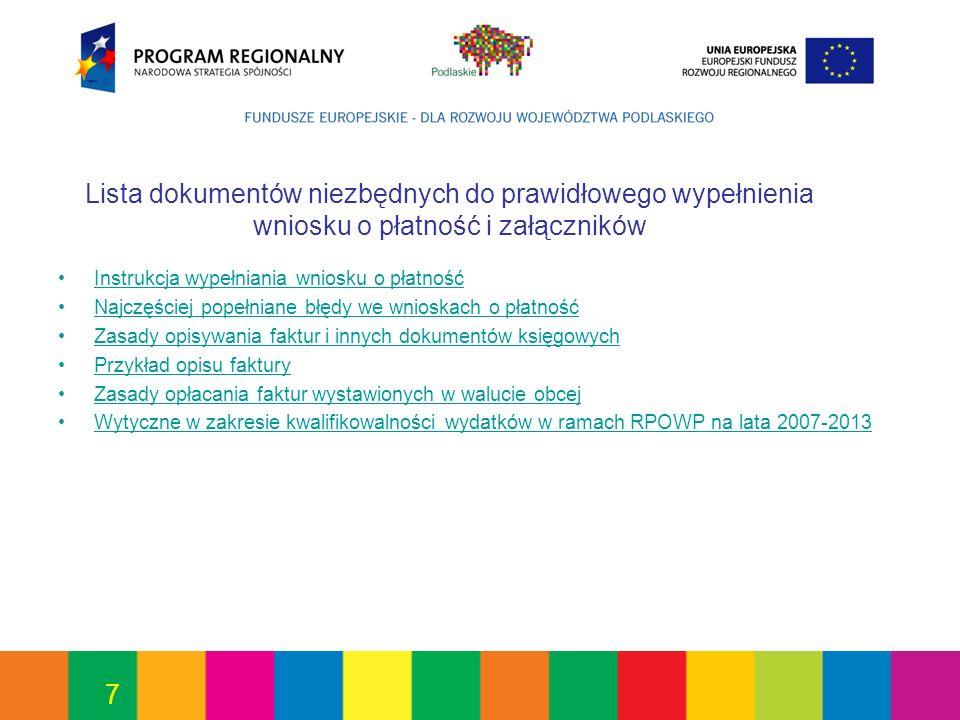 38 Wymagania formalne – cd.