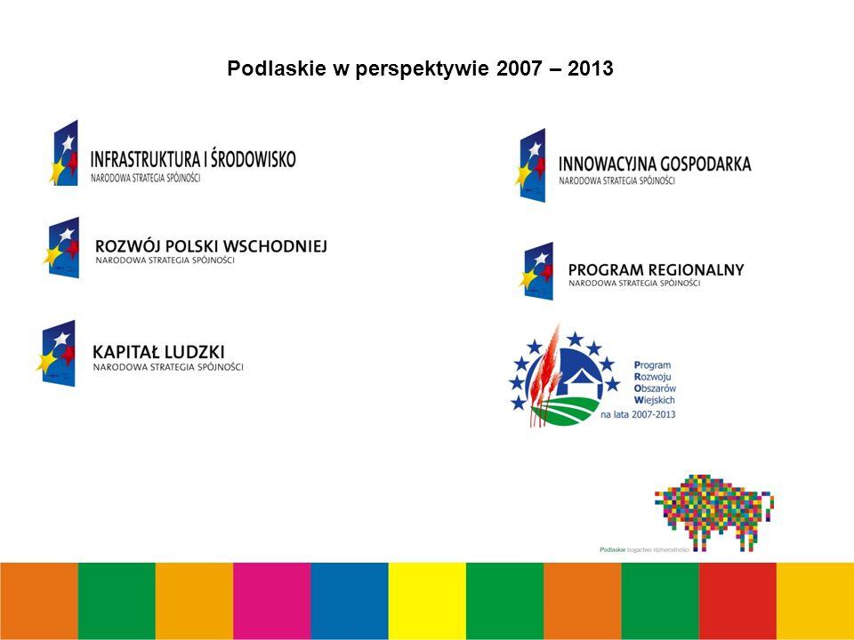 Podlaskie w perspektywie 2007 – 2013