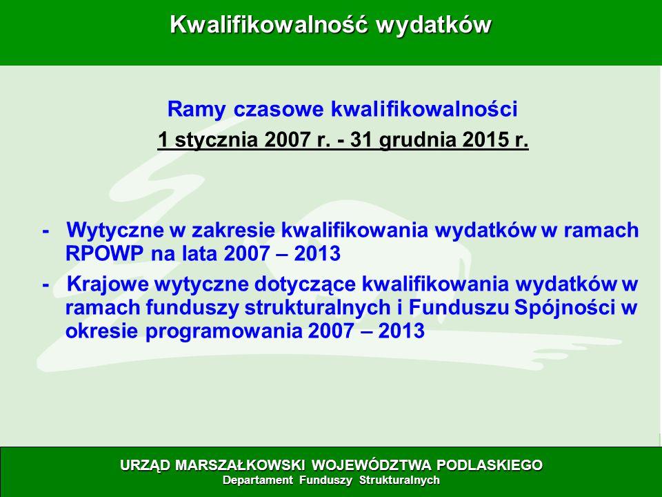 28.06.07 Ramy czasowe kwalifikowalności 1 stycznia 2007 r.