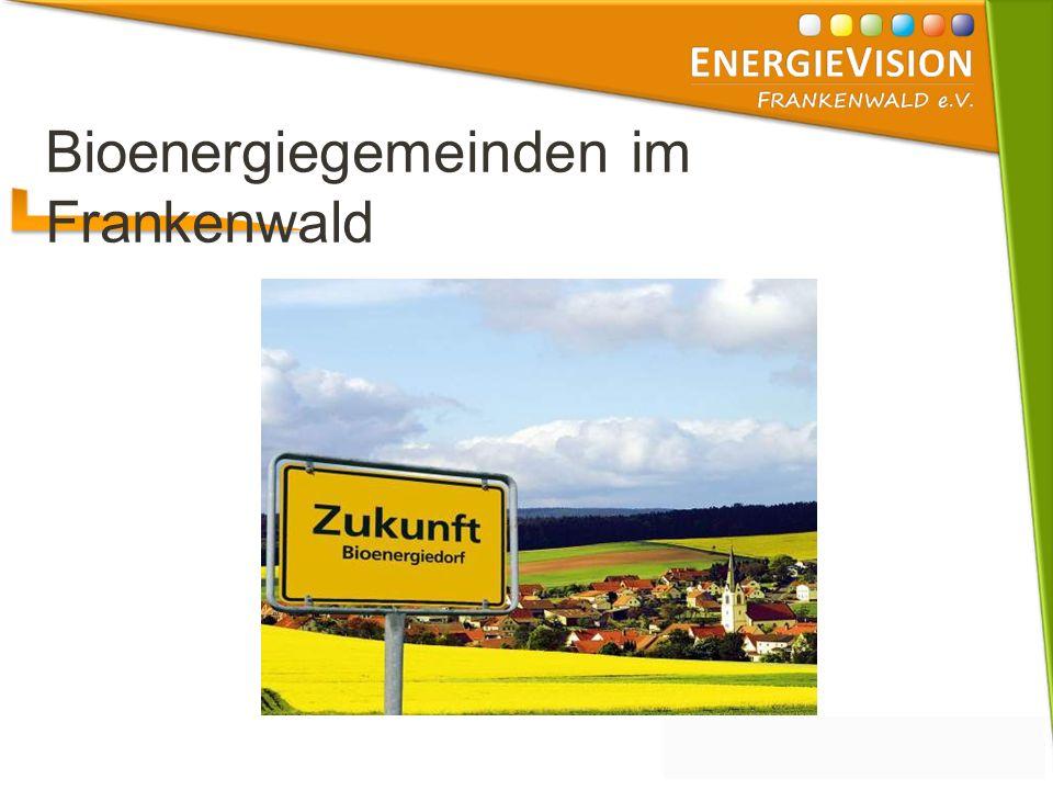 Bioenergiegemeinden im Frankenwald