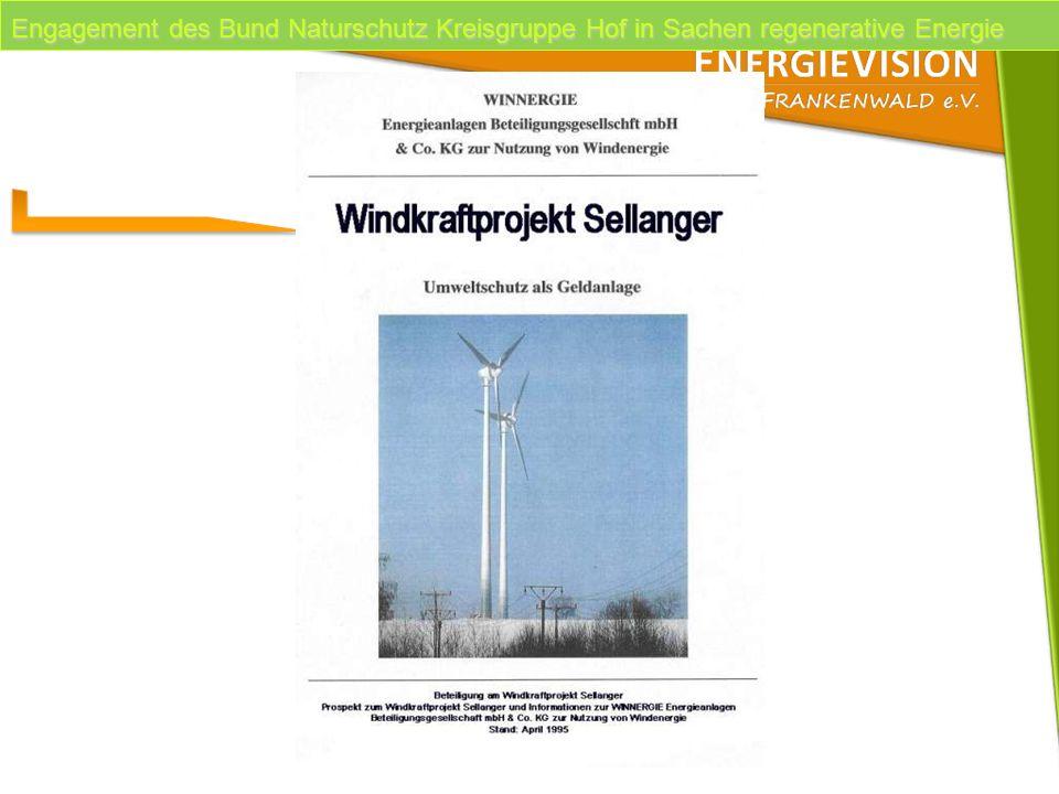Engagement des Bund Naturschutz Kreisgruppe Hof in Sachen regenerative Energie