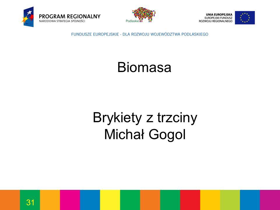 31 Biomasa Brykiety z trzciny Michał Gogol