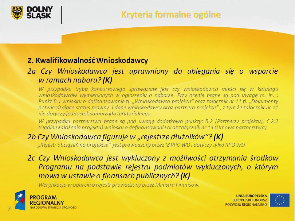 18 Kryteria formalne ogólne 11.