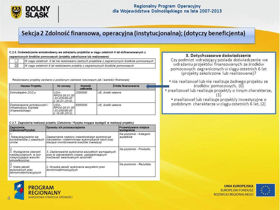 Regionalny Program Operacyjny dla Województwa Dolnośląskiego na lata 2007-2013 35 Załącznik nr 17.